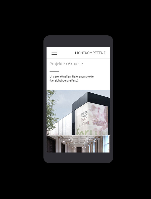 Lichtkompetenz Digital Website Mobile Projekte