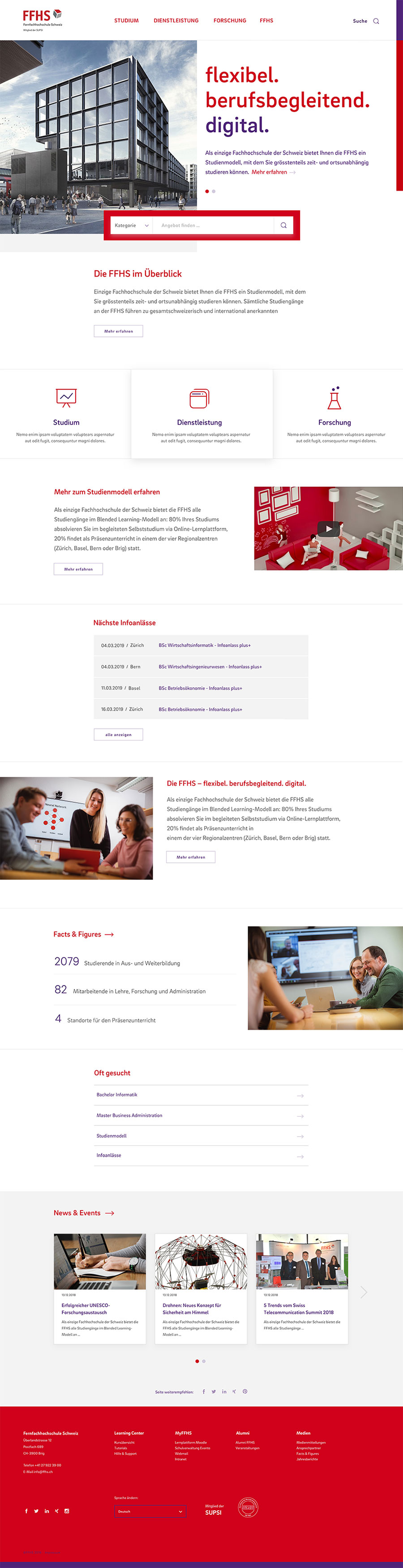 FFHS Digital Website Home Desktop