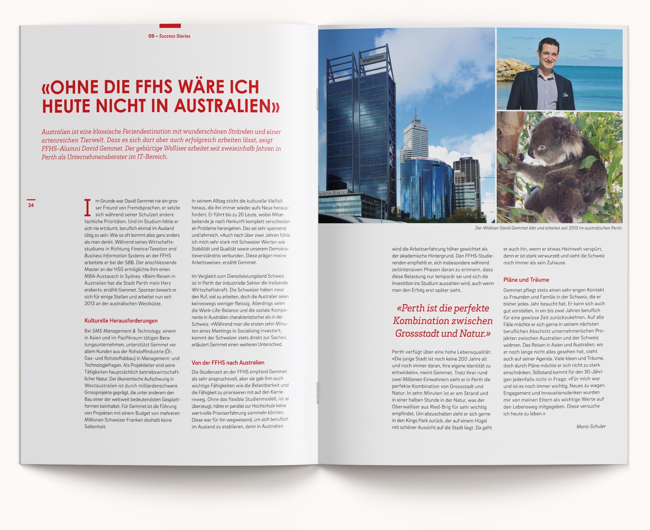 FFHS Grafikdesign Cloud Magazin Artikel Success Stories Australien