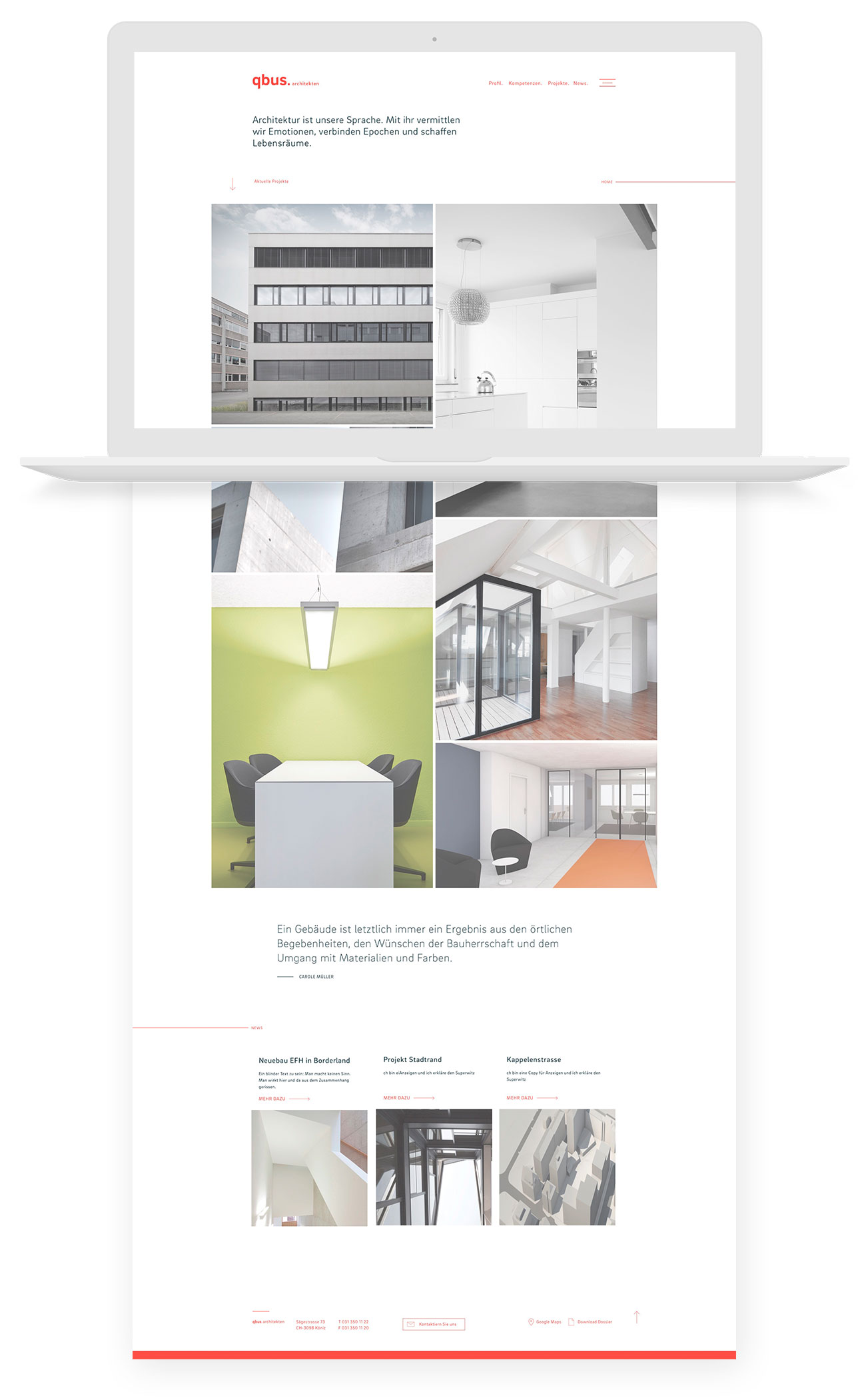 qbus Architekten Digital Website Home Desktop