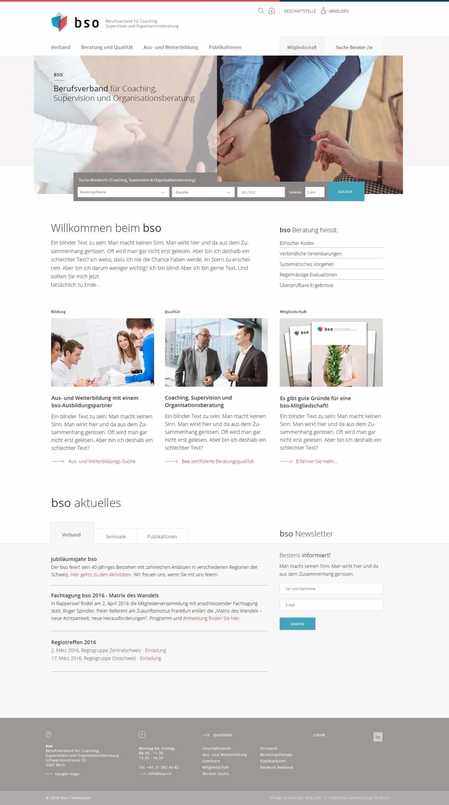 BSO Digital Website Home Desktop