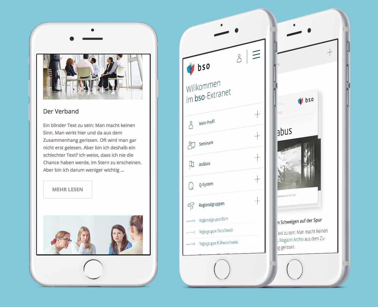 BSO Digital Website Home Extranet Mobile