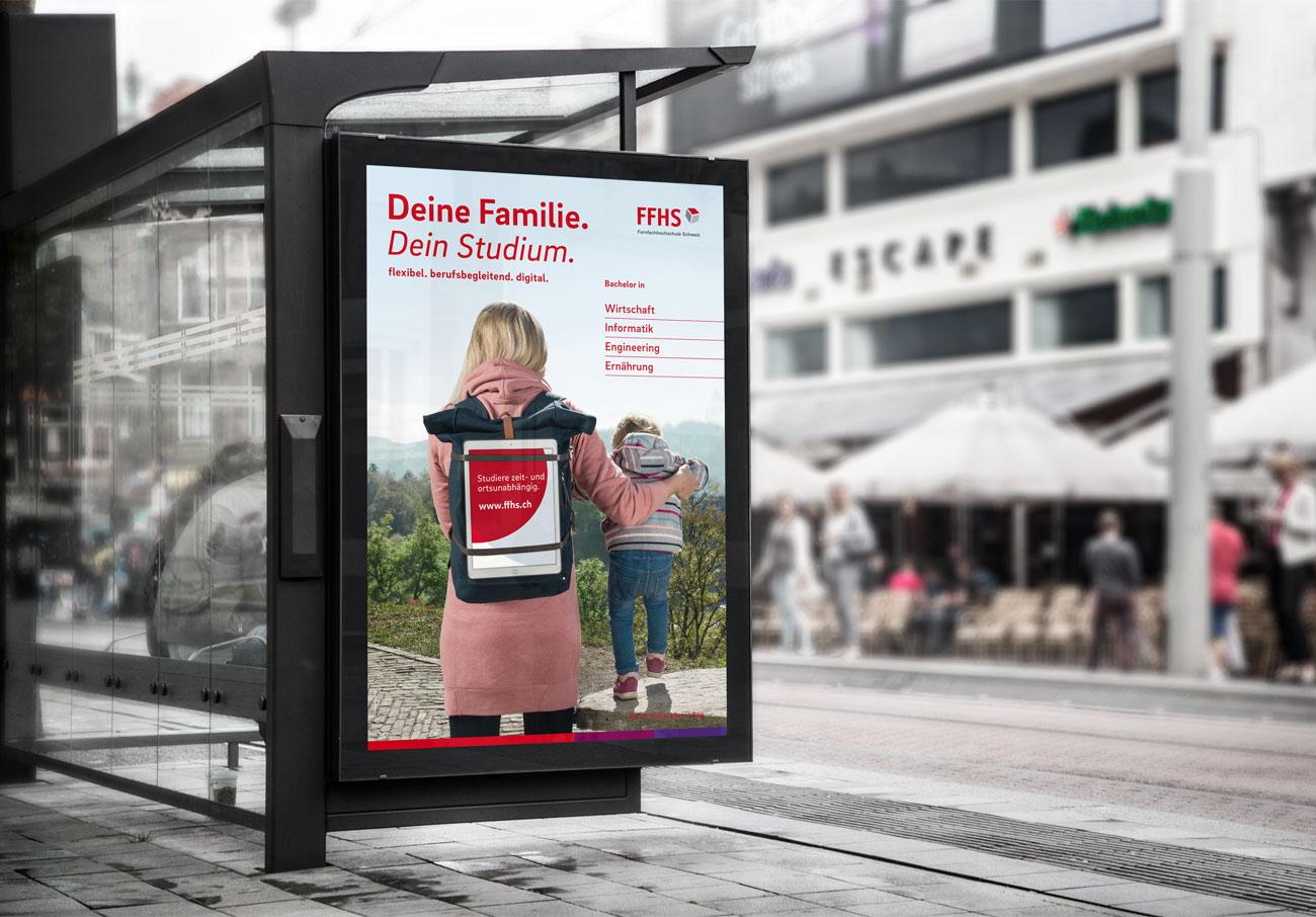 FFHS Kampagne Plakat Familie Studium