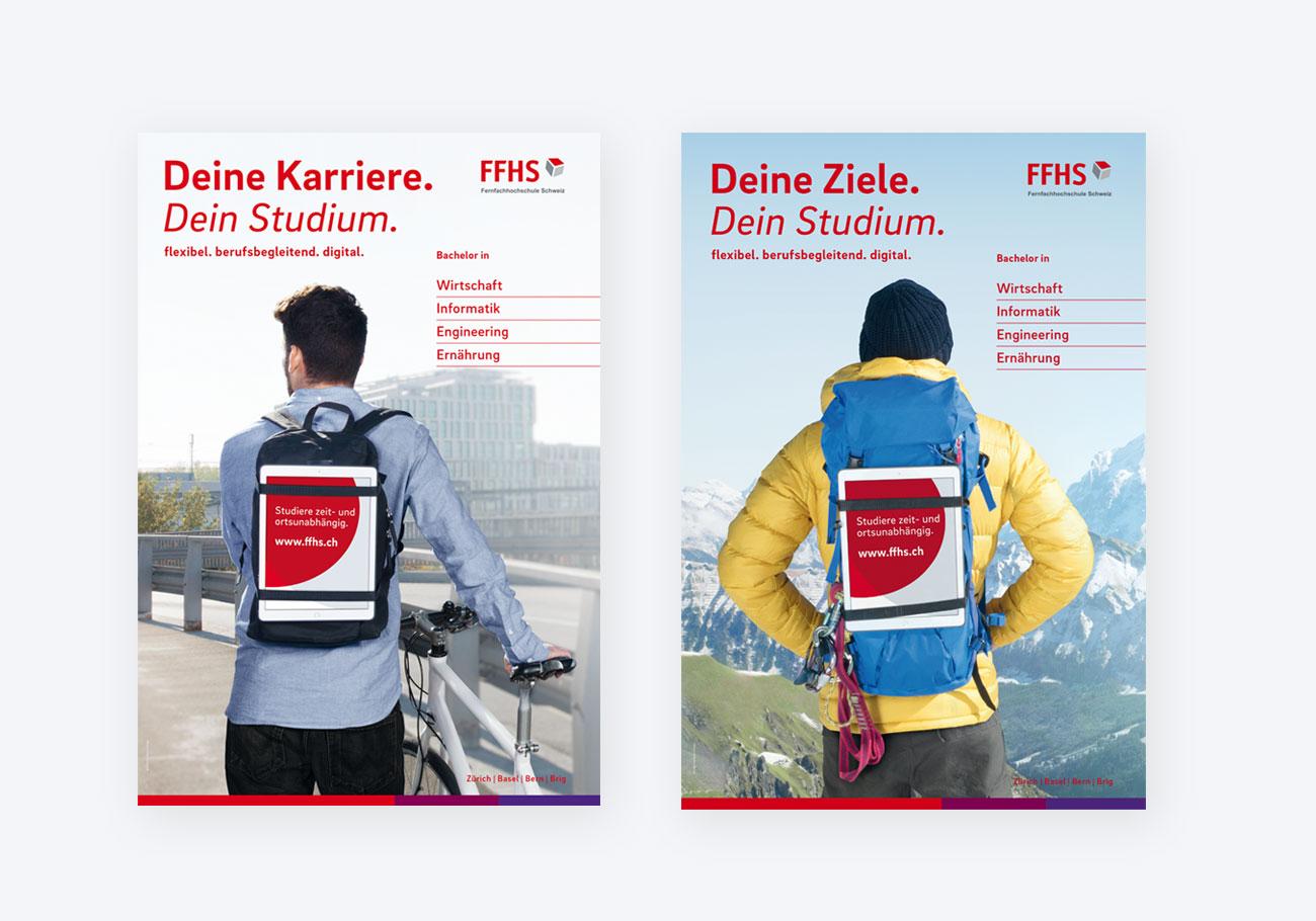 FFHS Kampagne Plakate Studium Karriere Ziele