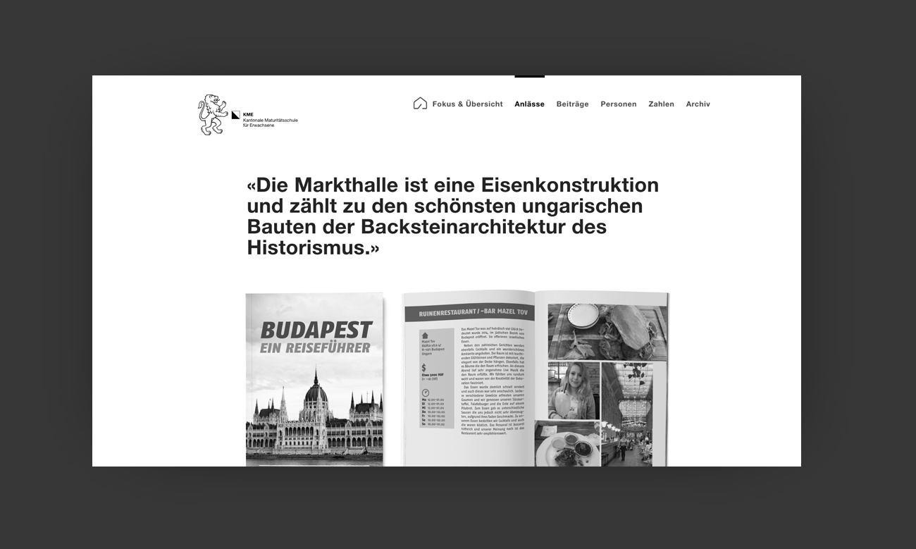 KME Digital Jahresbericht Website Anlaesse Desktop
