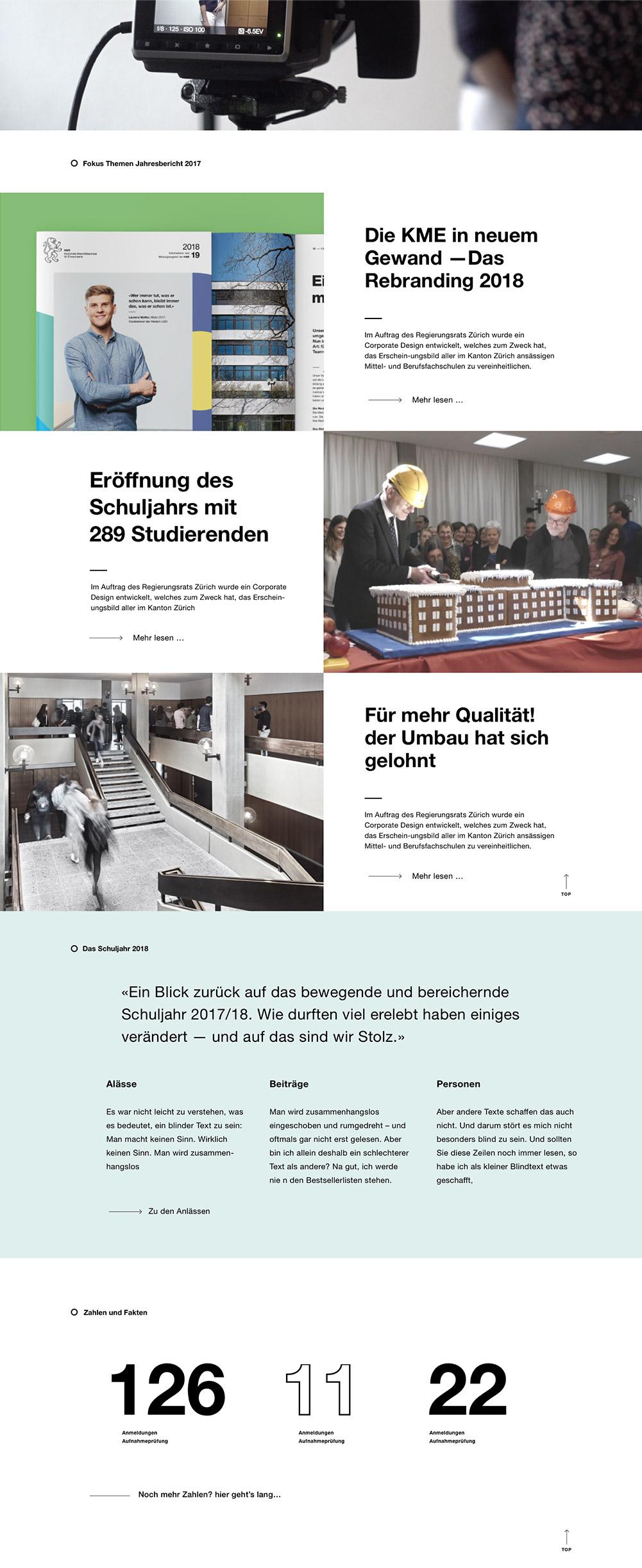 KME Digital Jahresbericht Website Desktop