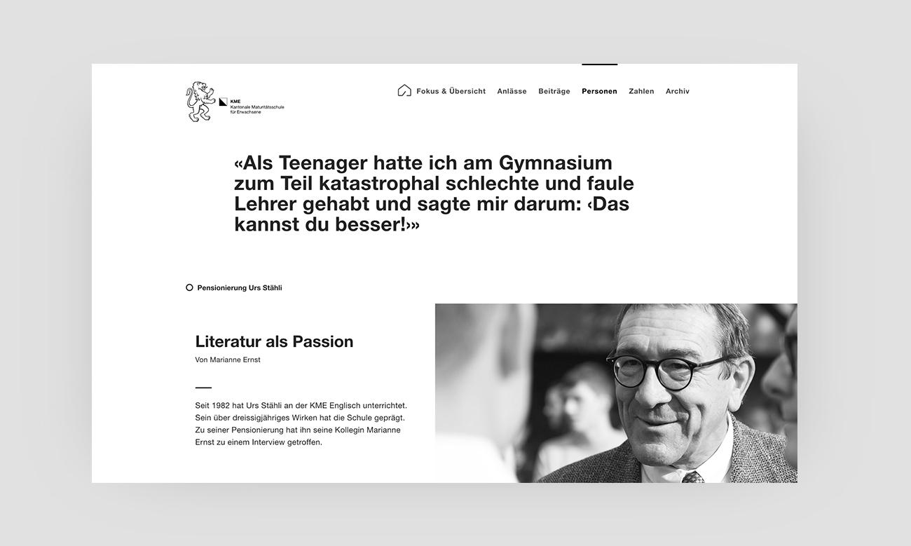 KME Digital Jahresbericht Website Personen Desktop