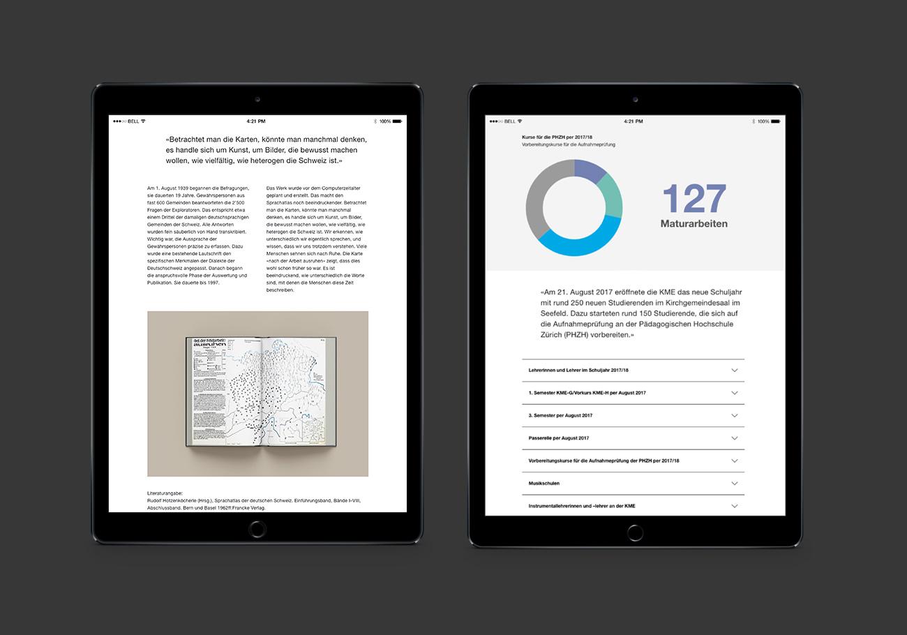 KME Digital Jahresbericht Website Tablet