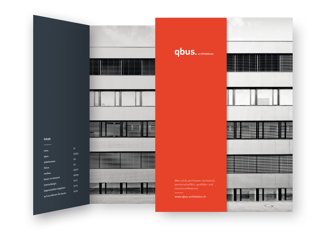 qbus Architekten Branding Broschuere Cover