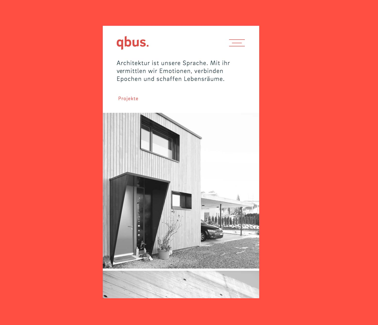 qbus Architekten Digital Website Home Mobile