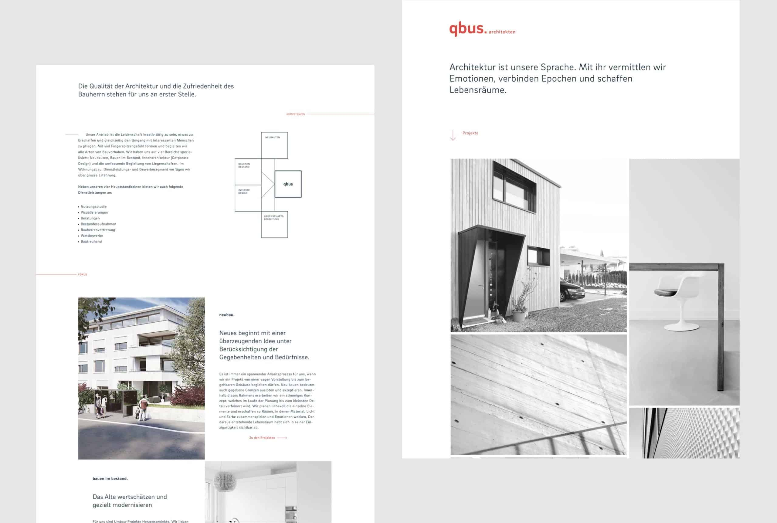 qbus Architekten Digital Website Projekte Home Desktop
